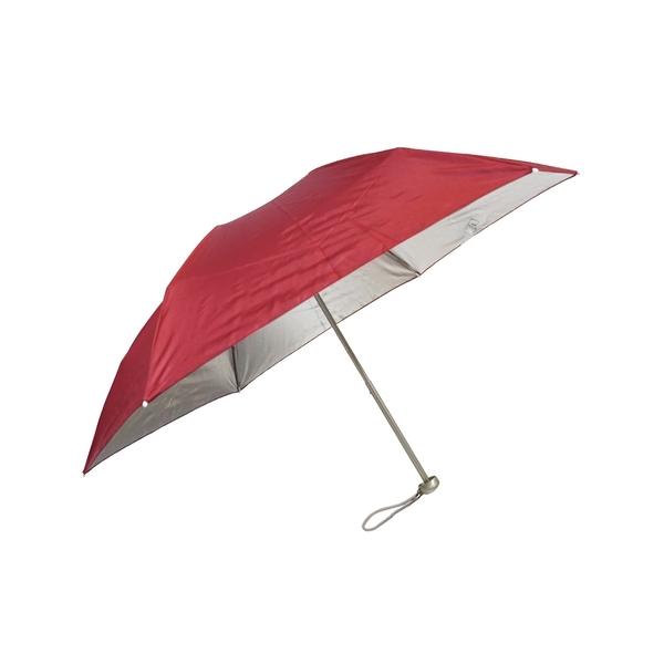 499 特價 雨傘 陽傘 萊登傘 抗UV 防曬 超細三折傘 日式骨架 防風抗斷 銀膠 Leighton (正紅)