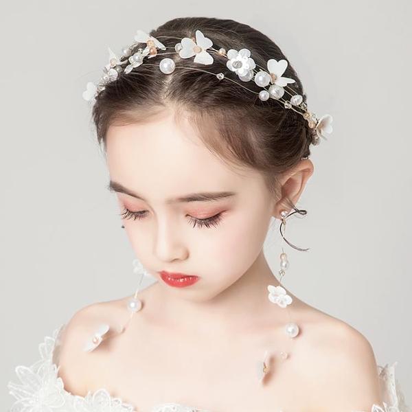 兒童頭花飾品女童花環頭飾小女孩花朵公主森女系花童演出頭箍1入