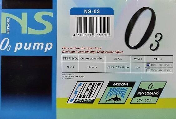 {台中水族} NS-03 O3 臭氧機 殺菌、除臭、漂白、清淨水質 特價