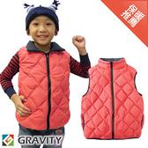 【GRAVITY 兒童 輕量羽絨背心 粉紅】GV301K/兒童背心/羽絨衣/羽絨背心/保暖背心