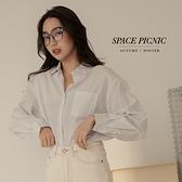 長袖 襯衫 Space Picnic|細條紋長袖襯衫-3色(現貨)【C21082007】