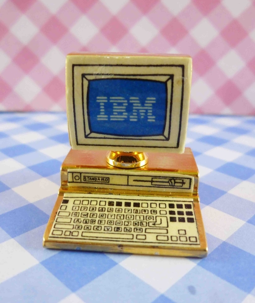 【震撼精品百貨】日本精品百貨-日本迷你袖珍擺飾-古董電腦