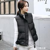 羽絨棉馬甲女秋冬2018新款短款韓版學生棉服外套女裝棉衣馬甲背心『艾麗花園』