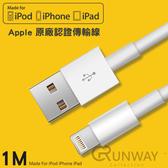 一年保固 iPhone充電線 iphone傳輸線 1M iPhoneX i8 i7 i6 SE iPad