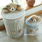 金柳家居藤編臟衣籃玩具收納箱臟衣服簍放衣服的收納筐編織帶蓋WY