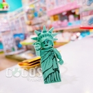 正版 LEGO 樂高鑰匙圈 自由女神 人偶鑰匙圈 鎖圈 吊飾 COCOS FG280
