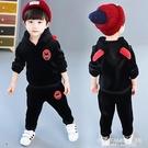 男童金絲絨套裝2020新款兒童雙面絨兩件套加絨加厚運動衛衣秋冬裝 艾瑞斯