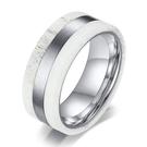 《 QBOX 》FASHION 飾品【QR-432S】精緻個性雅痞簡約線型鹿角材質鈦鋼戒指/戒環(限量)
