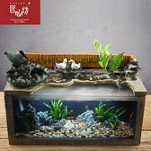 匠心坊流水魚缸蓮蓮如意噴泉水景觀擺件客廳辦公室中式工藝裝飾品  極客玩家  igo