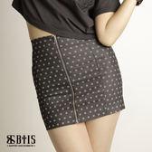 【BTIS】滿版彈性單片短裙  / 黑色