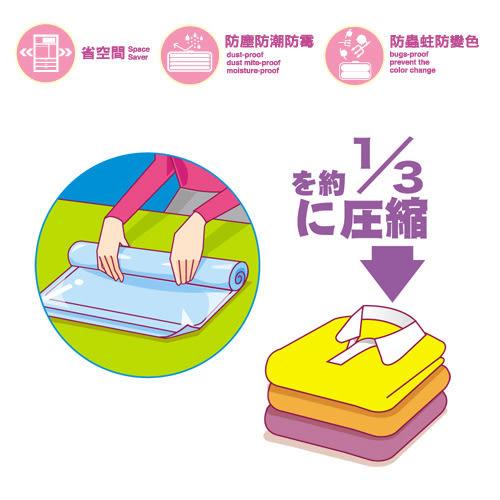 【好市吉居家生活】生活大師UdiLife S9999S 疊疊樂衣類旅行壓縮袋(S) 防塵袋 收納袋