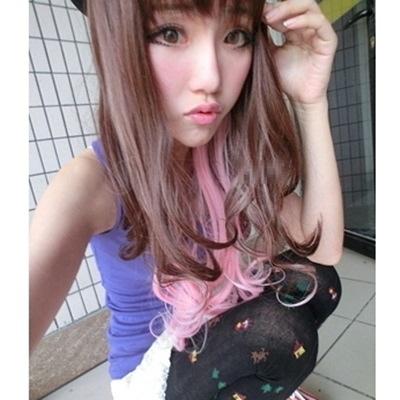 假髮(長髮)-日系甜美漸變捲髮女假髮73ek26【時尚巴黎】
