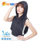 UV100 防曬 抗UV-百搭護頸帽套-附馬尾洞