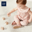 Gap 嬰兒 時尚方領荷葉邊飾上衣 546551-淡粉色