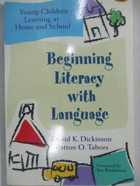 【書寶二手書T1/大學教育_KNF】Beginning Literacy With Language: Young Children…