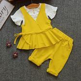 女寶寶夏裝套裝新款韓版2女童嬰兒三