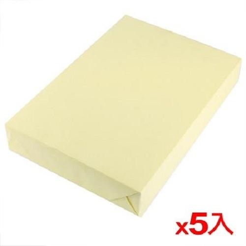【5件超值組】PAPER LINE A4影印紙70磅500張-淺黃(包)【愛買】