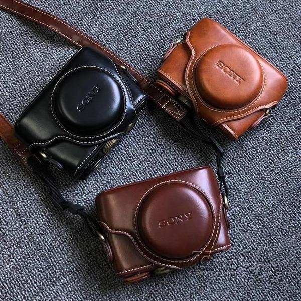索尼黑卡RX100M6相機包DSC-RX100 M2 M3 M4 M5A M7相機皮套殼復古 雙十二全館免運