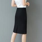 春夏職業裙高腰過膝半身裙中裙彈力一步裙包臀裙包裙中長款正裝裙