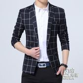 男士小西裝青年西服男大碼韓版修身上衣商務職業休閒毛呢外套 自由角落