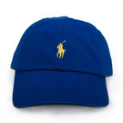 RALPH LAUREN POLO新款刺繡小馬時尚棒球帽(藍色)780970-1