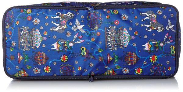 HAPI+TAS 摺疊小旅行袋 - 藍色旋轉木馬