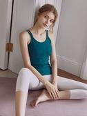全館83折運動背心女外穿健身內衣網紅瑜伽服上衣帶胸墊防震聚攏吊帶文胸
