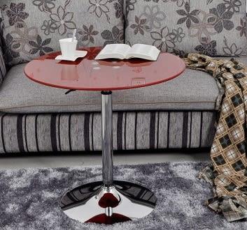 【南洋風休閒傢俱】餐桌系列-60CM圓/方升降玻璃吧台桌 休閒桌 洽談桌 餐桌