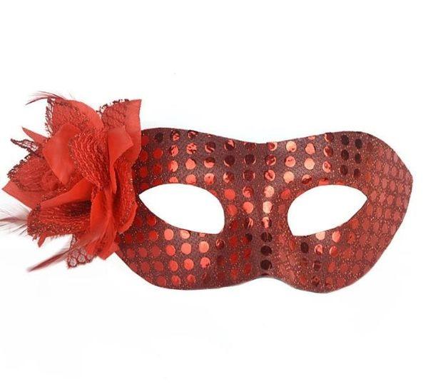 無圍邊包布 亮片面具 面具 面罩 威尼斯 花紋包布面具 眼罩 cosplay 舞會【塔克】