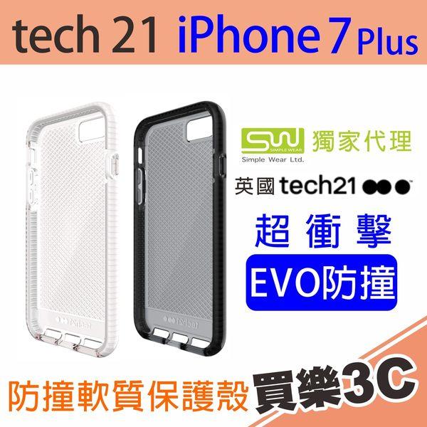 Tech21 英國 超衝擊 Evo Check iPhone 7 Plus 防撞 軟質格紋 保護殼