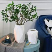 誠藝現代大理石紋陶瓷花瓶 家居裝飾品擺件 客廳餐廳軟裝插花花器【新店開張八八折下殺】
