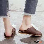 E家人 娃娃鞋 豆豆鞋 圓頭 系帶 娃娃鞋 平跟女鞋 小白鞋 單鞋