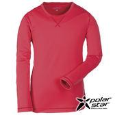 PolarStar 中性針織圓領保暖衣『磚粉紅』P16225 台灣製造│排汗│透氣│保暖│刷毛衣│休閒