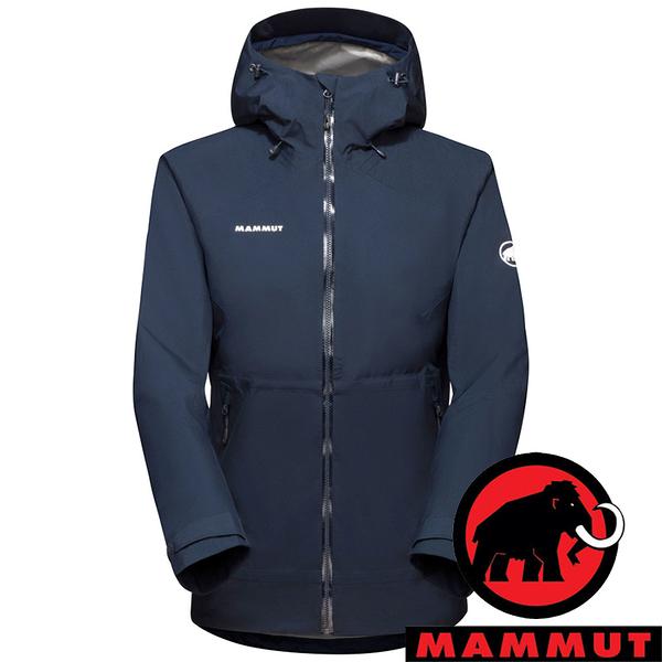 【MAMMUT 長毛象】Convey女GT單件式連帽外套『海洋藍』1010-28800 登山 外套 羽絨 保暖 禦寒