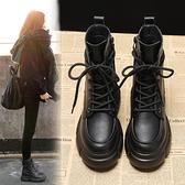 內增高馬丁靴女小個子8cm英倫風2020年新款春秋單靴潮ins厚底短靴【快速出貨】