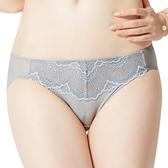 思薇爾-春舞系列M-XL蕾絲低腰三角內褲(冰霰灰)