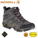 【MERRELL 美國 男 MOAB 2 LTR MID GORE-TEX登山鞋《深灰》】ML18419/健行鞋/登山