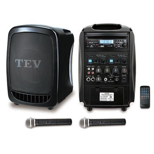 TEV 藍芽/CD/USB/SD雙頻無線擴音機 TA330B-2