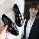 英倫風樂福鞋女平底鞋 一腳蹬小皮鞋平跟舒適學院風單鞋黑色鞋子