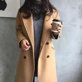 毛呢外套 呢子大衣女中長款正韓新款秋冬裝毛呢外套女加厚流行森系 酷我衣櫥