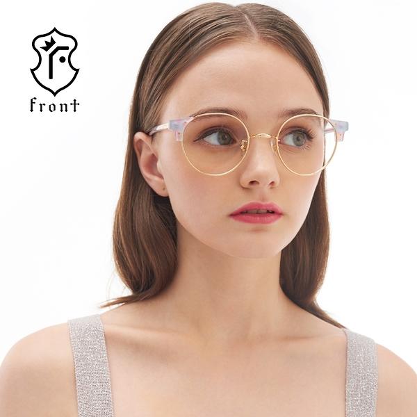 【Front 光學眼鏡G2511-三色可挑選#百搭造型圓框光學眼鏡