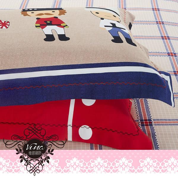 《娃娃小兵》百貨專櫃精品薄床包組 100%MIT台製舒柔棉-單人(3.5*6.2尺)