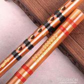 伶吟樂器E初學苦竹笛子成人C零基礎高檔專業橫笛D演奏G兒童F調紫-享家生活館