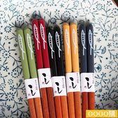 【新年鉅惠】日式秋刀魚筷子 天然花栗木筷子情侶筷