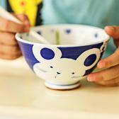 兒童瓷碗 釉下彩可愛卡通碗日式十二生肖小孩碗