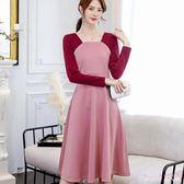 大尺碼洋裝 秋冬季新款韓版女裝大碼顯瘦長袖時尚百搭休閒潮流連身裙 DR8242【Rose中大尺碼】