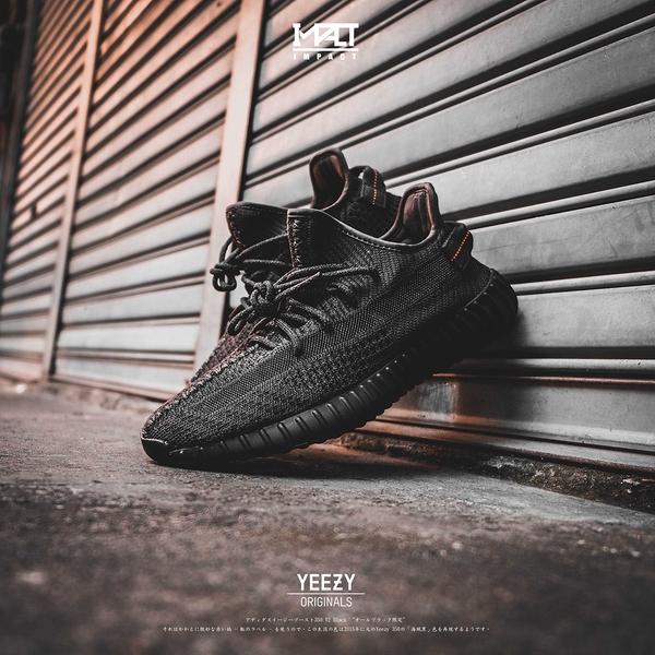IMPACT Adidas Yeezy Boost 350 V2 黑 3M 鞋帶反光 黑天使 FU9006