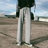 運動褲女秋新款拖地高腰韓版寬鬆直筒顯瘦休閒學生闊腿長褲子【限時八折】