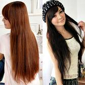 Qmishop 一片式半頂五扣 氣質長直髮片假髮 高溫髮絲 可電棒燙【P031】新娘髮型