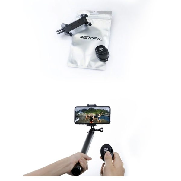 270Pro 手機轉接組〔手機夾+遙控器〕GoPro手機夾轉接座
